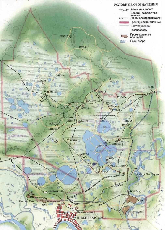 карта самотлорского месторождения с кустами скачать